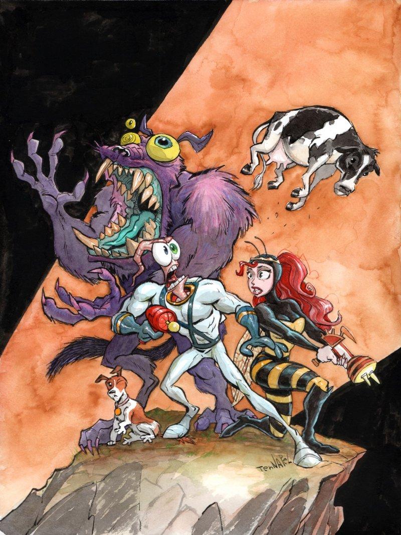 Das originale Team von Earthworm Jim kommt für die Fortsetzung zusammen! (Foto: Intellivision Entertainment)