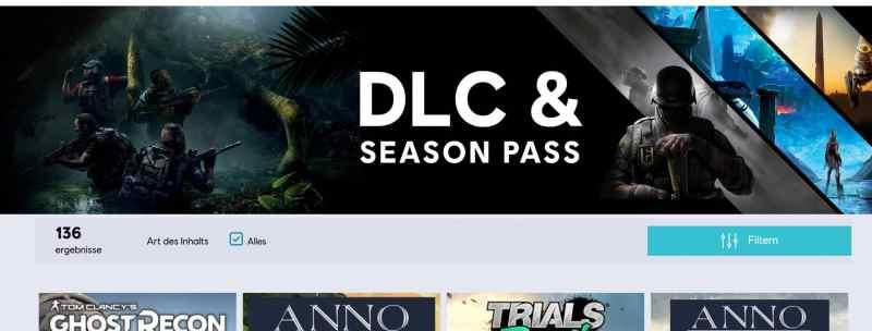 Ein Blick bei Ubisoft macht deutlich: Ohne DLC geht nichts mehr. (Foto: Screenshot / Ubisoft.de)