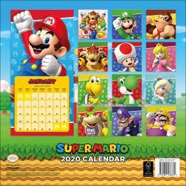Mario 2020 Kalender Rückseite. (Foto: Nintendo)