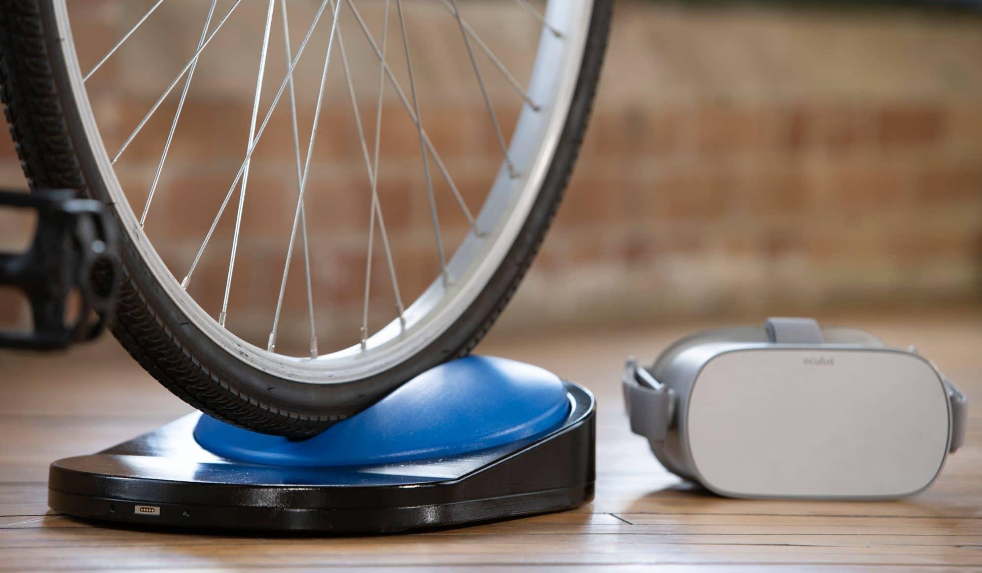 Mit eurem Fahrrad erlebt ihr VR-Fahrten. (Foto: Blync)