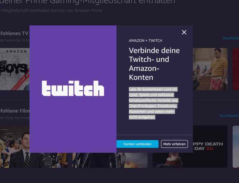 Verbinden mit dem Twitch-Konto ist sinnvoll. (Foto: Screenshot)