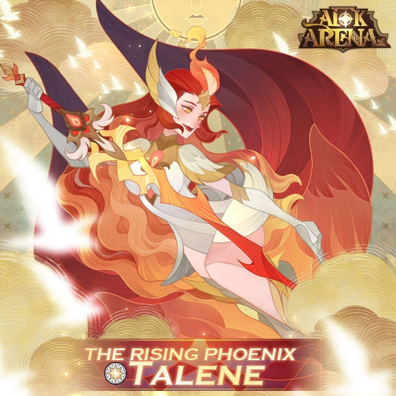 afk arena new celestial hero talene the rising phoenix intro