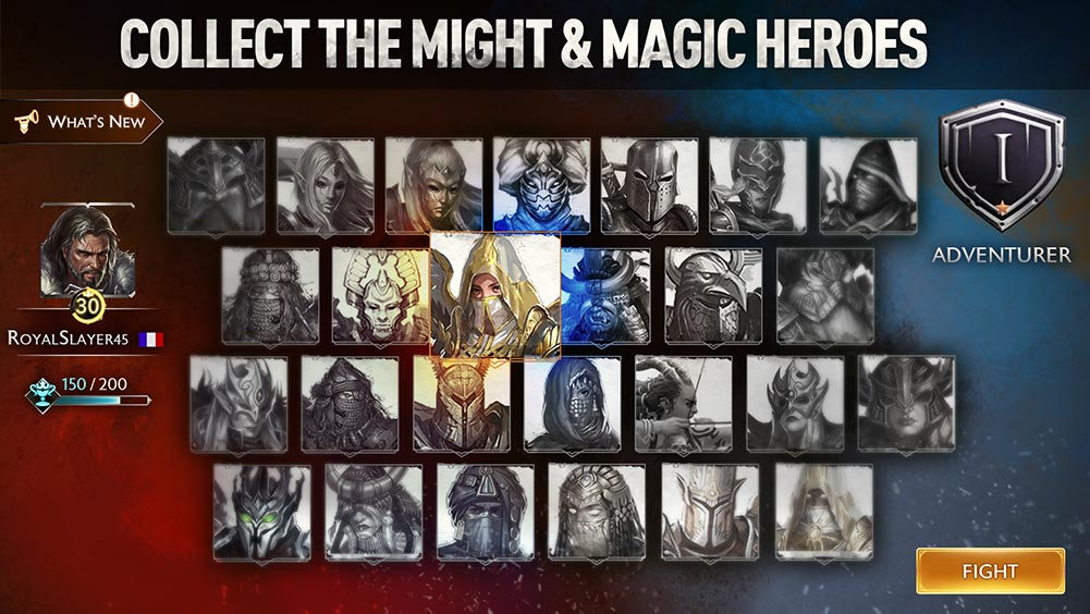 might and magic chess royale collect the heroes