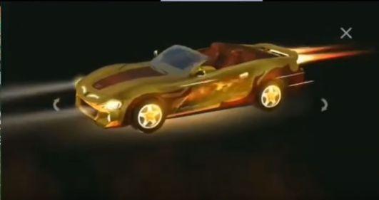 golden car skin in free fire