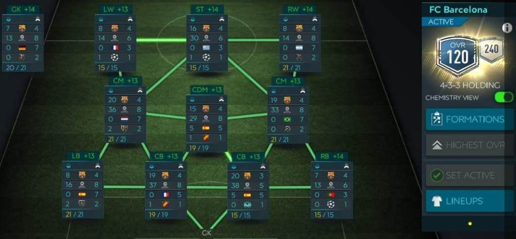 FIFA Mobile 20 Chemistry