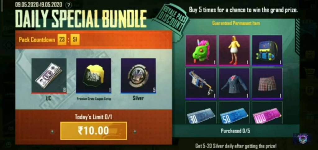 Daily deal packs