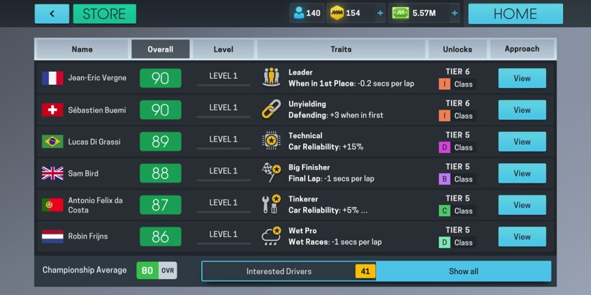 drivers in motorsport manager online