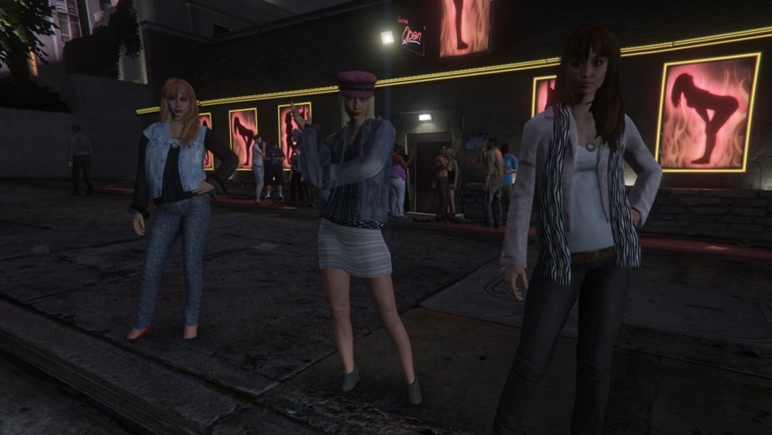 Where to Pick Up Prostitutes in Grand Theft Auto V (GTA 5