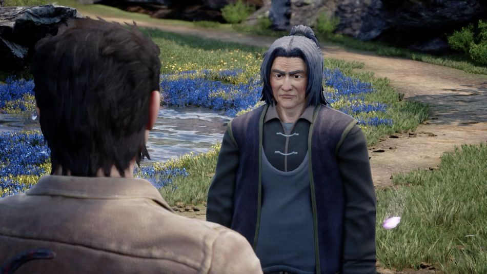Mysterious guy in spring in shenmue 3