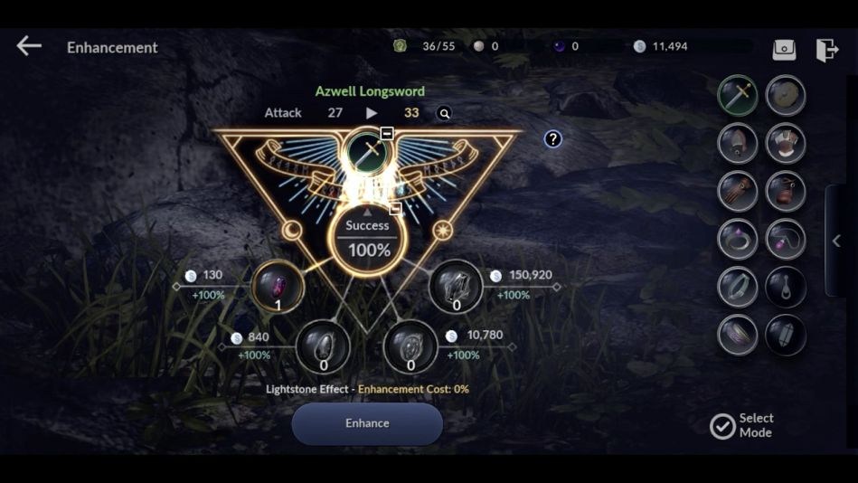 Black Desert Mobile Enhancement Weapon and Armor success rate