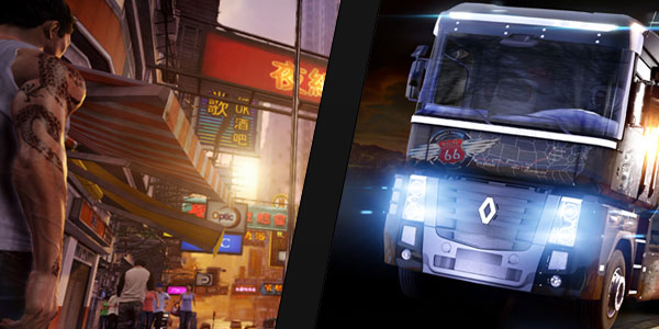 Giveaway: Sleeping Dogs e Euro Truck Simulator 2!