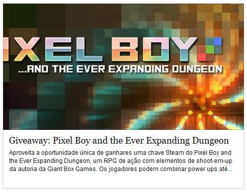 Giveaway: Pixel Boy