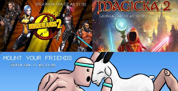 Transmissões da Semana: Borderlands 2, Magicka 2 e Montar Amigos