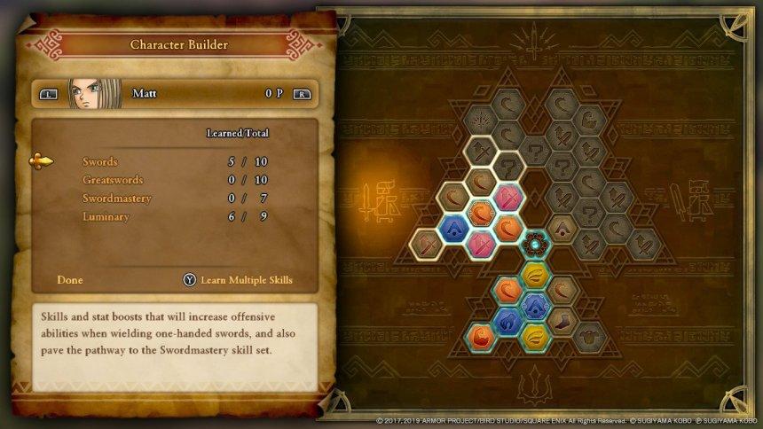 dragon quest 11 hero skill tree