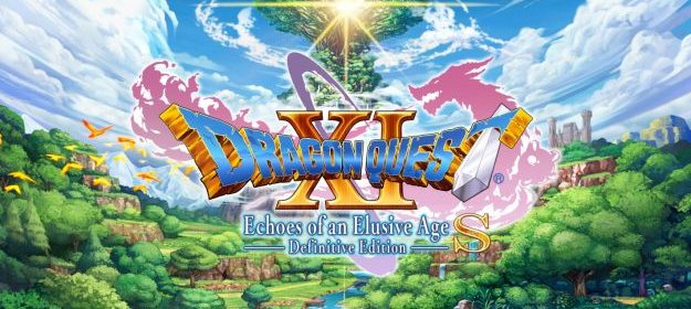 dragon quest 11 s title screen on the nintendo switch