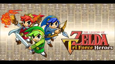 the legend of zelda tri force heroes logo