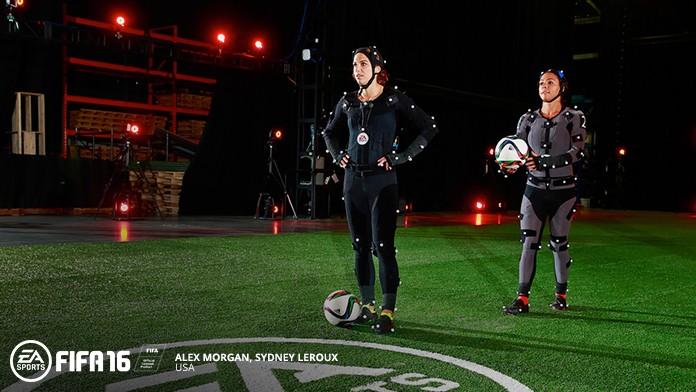 FIFA 16 Motion Capture der Frauen