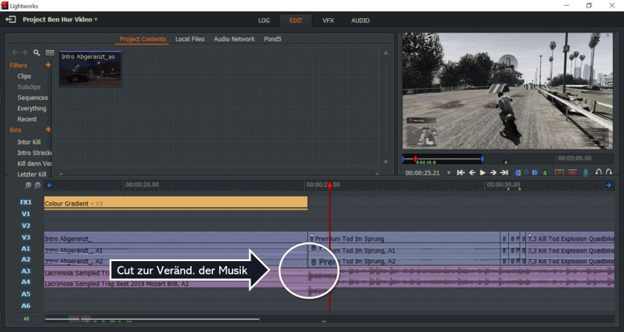 Intro 1 zu Intro 2 - Editing GTA Ben Hur