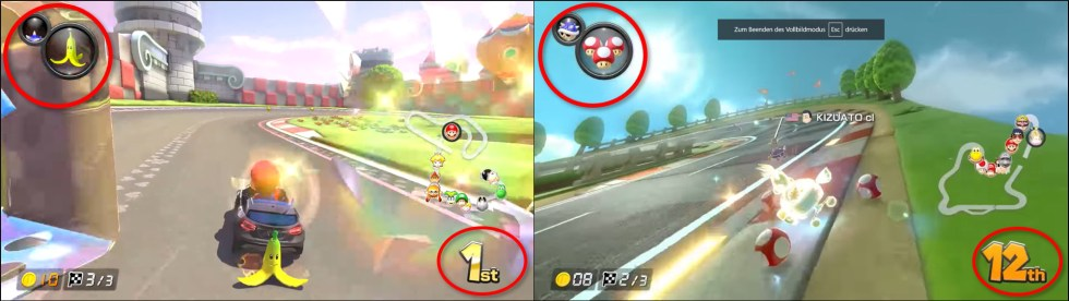 Mariokart Switch placement based Item assignment