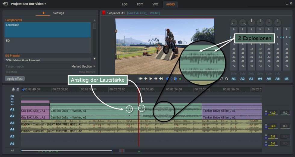 Soundanpassung - Editing GTA Ben Hur
