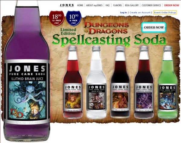 Dungeons & Dragons Spellcasting Soda