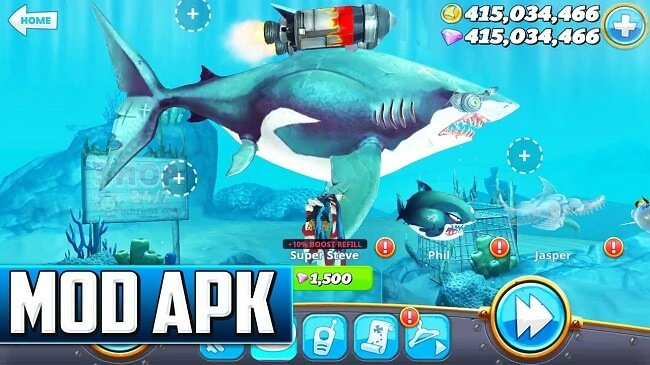 Download Hungry Shark World MOD APK v3.1.2 [Unlimited Money]