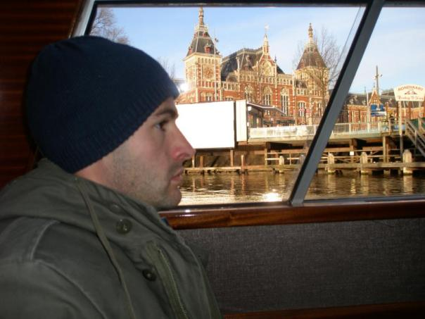 Paseando en barco .