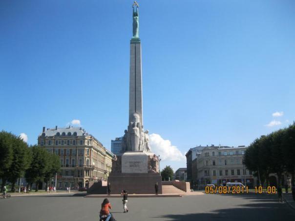 Monumento a la Independencia , en Riga .
