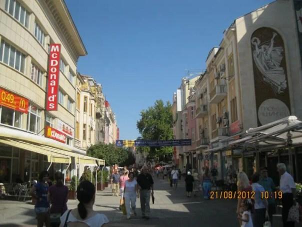 Calle peatonal , en Plovdiv .