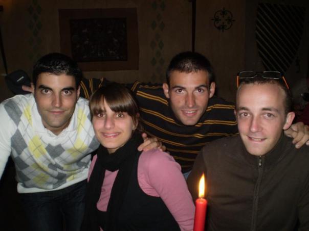 Con Sergio , Emilie y Florien .