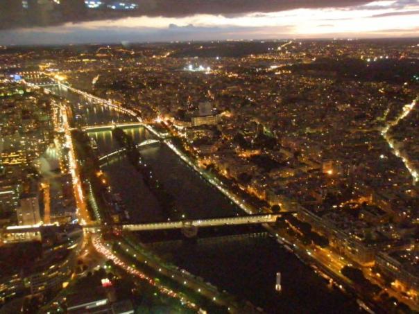 Vistas desde la Torre Eiffel .