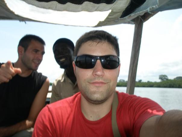 Con Sergio y Musa , en los manglares .