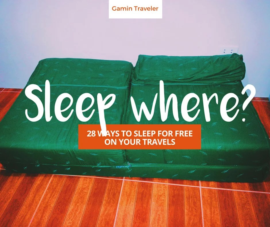 28 Ways to Sleep Free Traveling