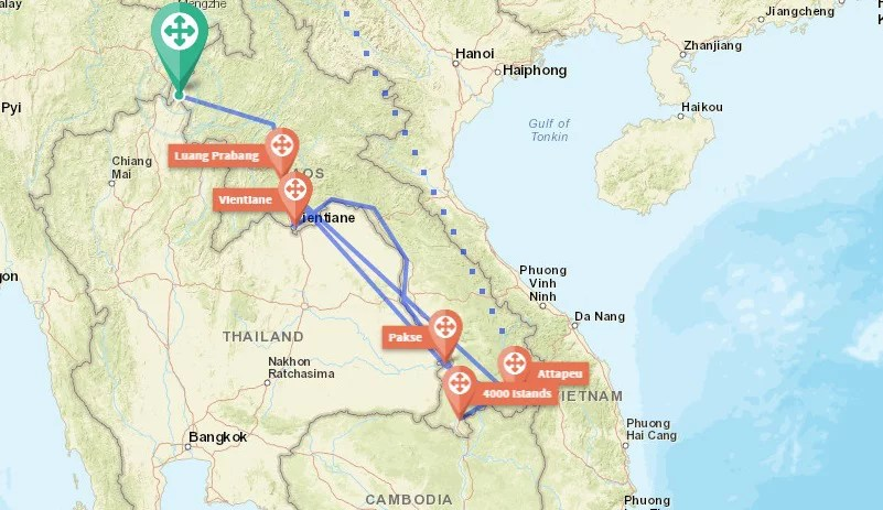 Maps Backpacking Laos