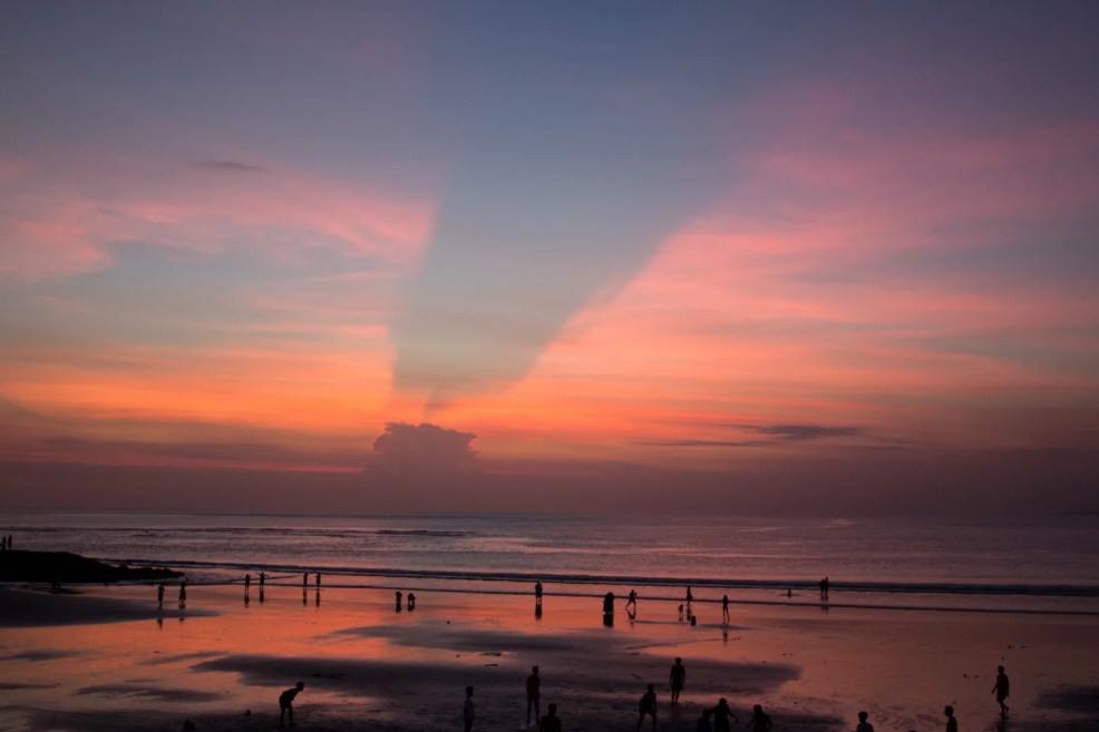 Sunset at Kuta Beach
