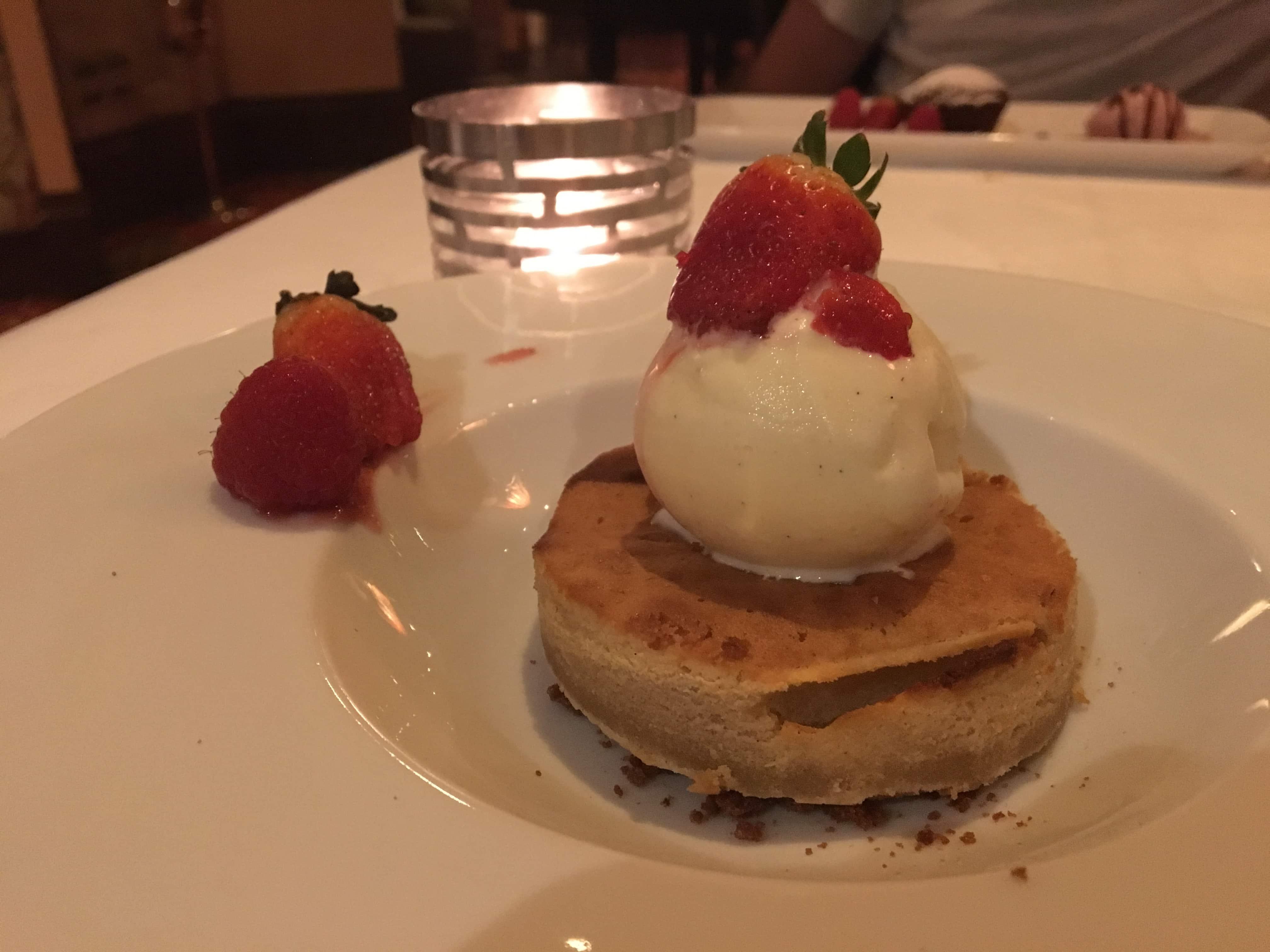 Strawberries with vanilla ice-cream, amazing Kuala Lumpur experience