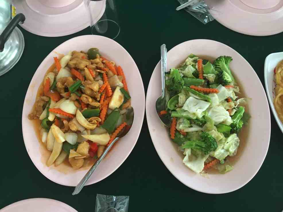 Eating Vegetables when visit Chiang Mai