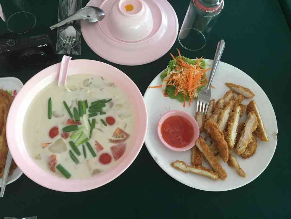 Coconut soup when visit Chiang Mai