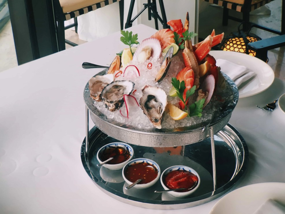 The signature Hyatt Regency chilled seafood is such a delight to eat!