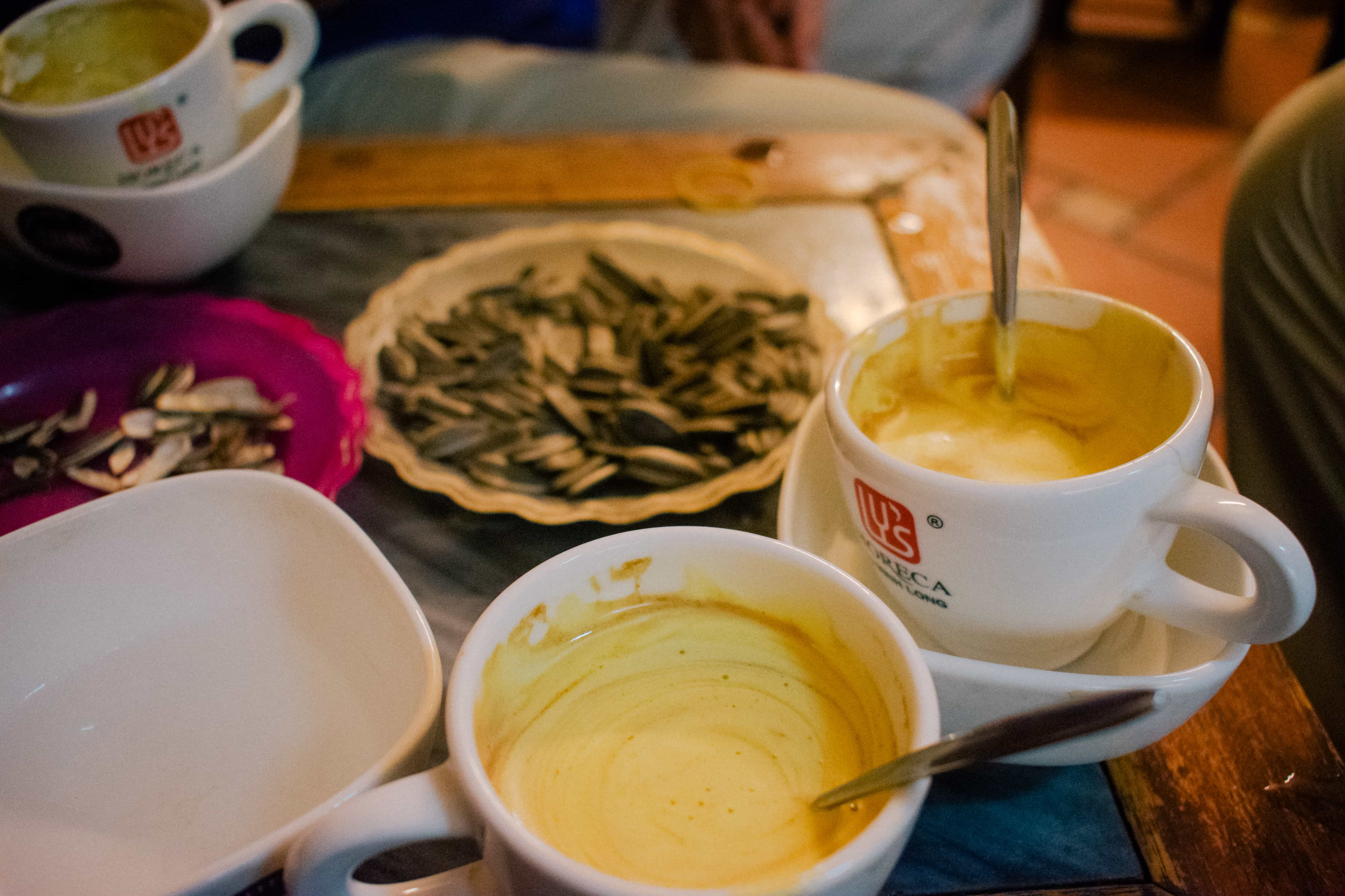 visiting Hanoi: Trying egg coffee