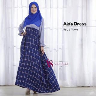 Gamis Aida Dress - Blue Navy
