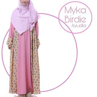 Gamis Ayudia Myka Birdie Pink