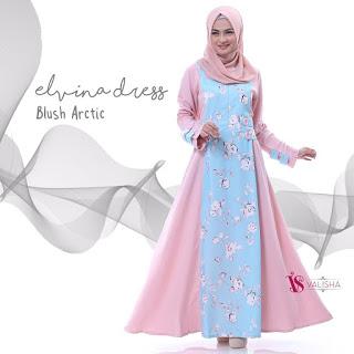 Gamis Valisha Elvina Dress Blush Arctic