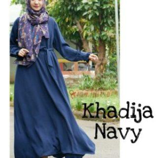 Gamis Ayudia Khadija Caltri Navy