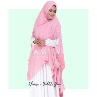 Hijab Amily Khimar Khansa Bubble Gum