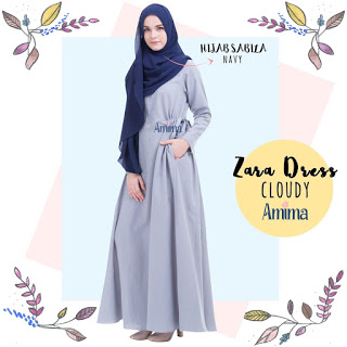 Gamis Amima Zara Dress Cloudy