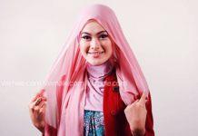tutorial cara memakai jilbab segi empat polos cantik dan simpel 01