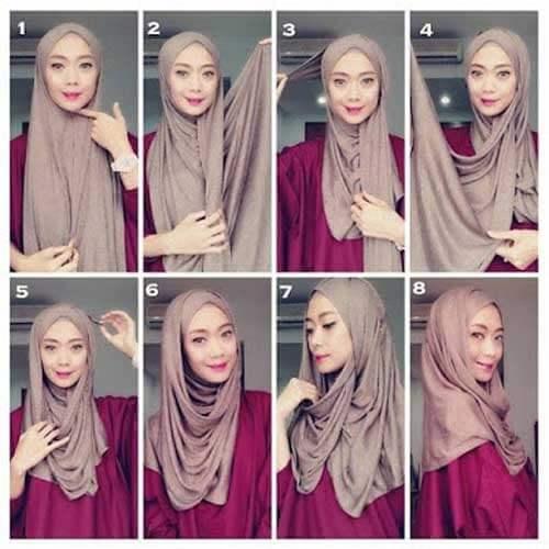 model-jilbab-pashmina-bahan-satin