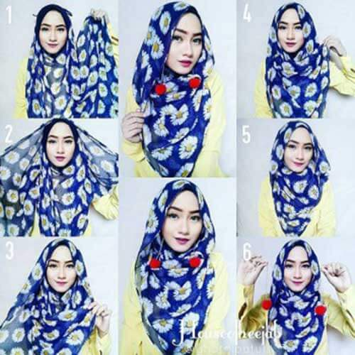 model-jilbab-pashmina-motif-bunga