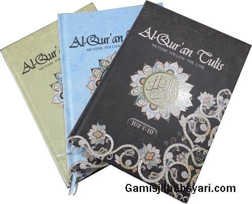 AL Qur'an Tulis metode Follow Thw Line